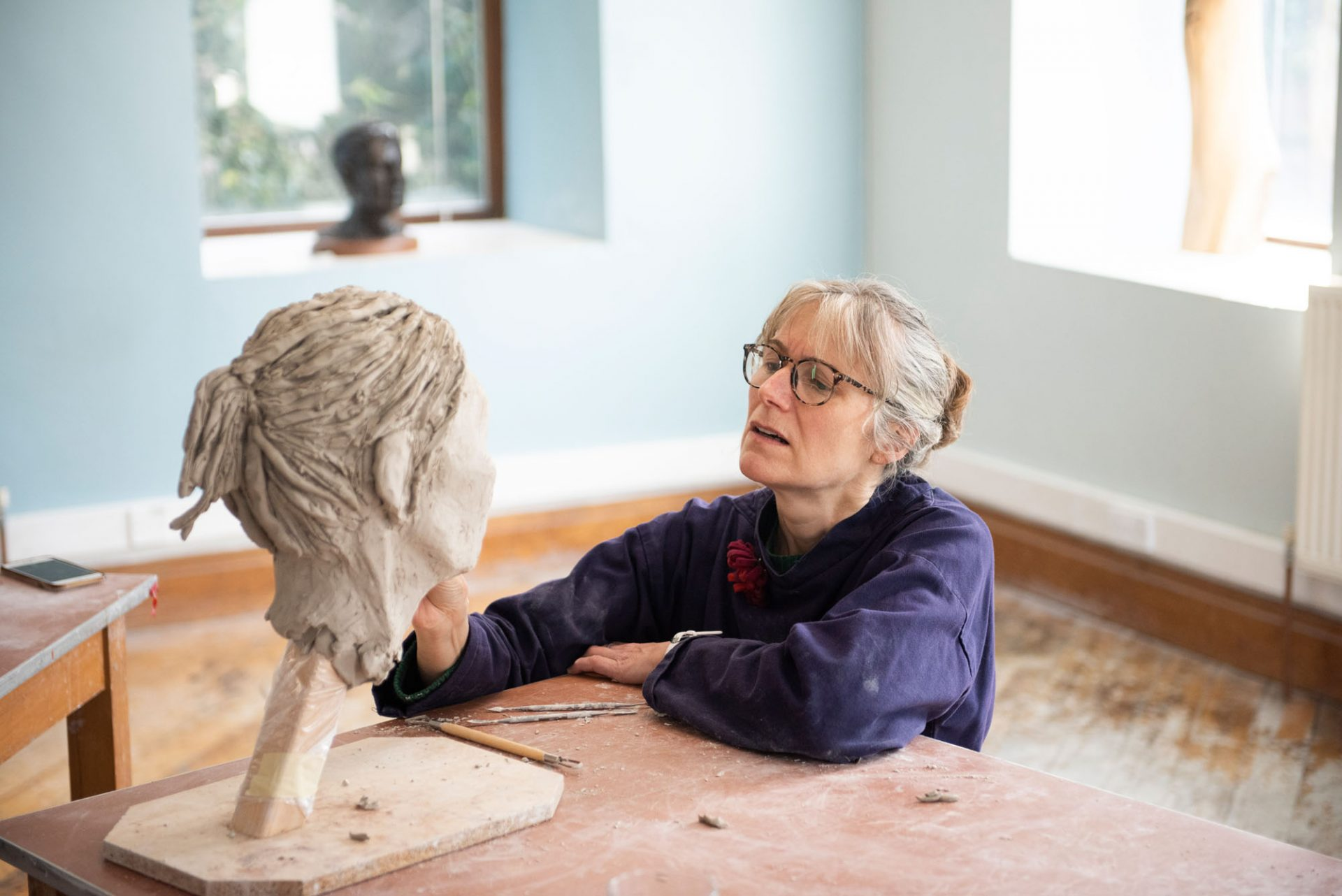 sculpting from clay