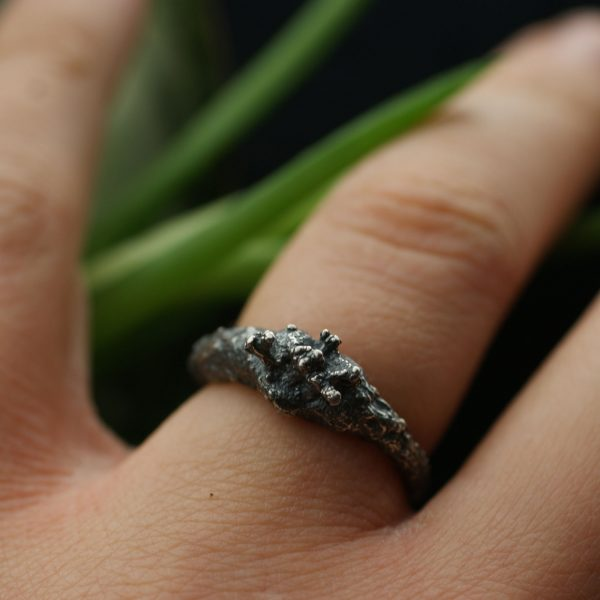 Libby Ward 'Fruticose Ring 1 Oxidised'