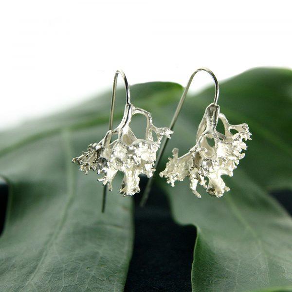 Libby Ward 'Large Fruticose Earrings Drop Silver'