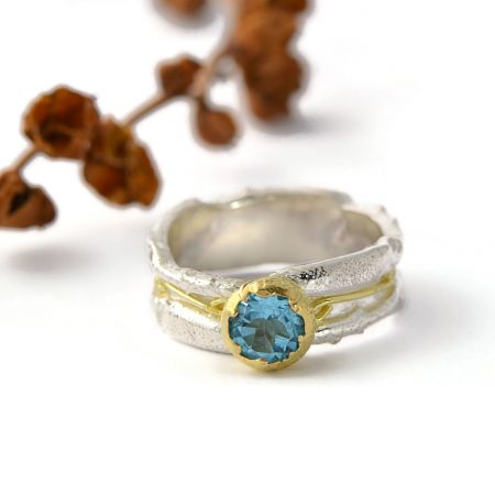 Magnolia Restrepo 'Origins ring with blue topaz'