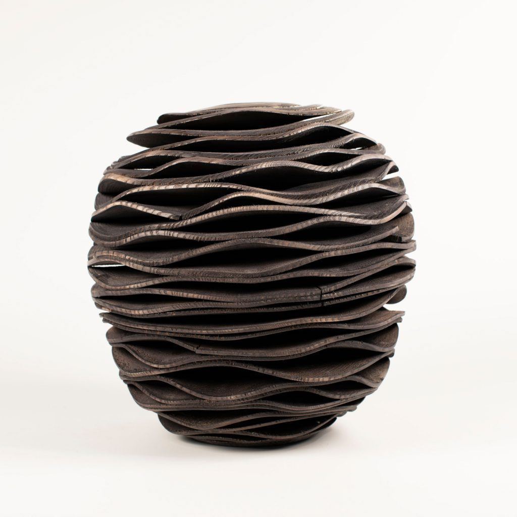 turned wooden sculpture by Ralph Shuttleworth